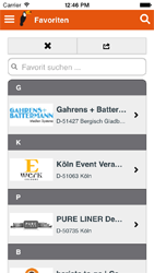 Eventmanager App - Favoriten