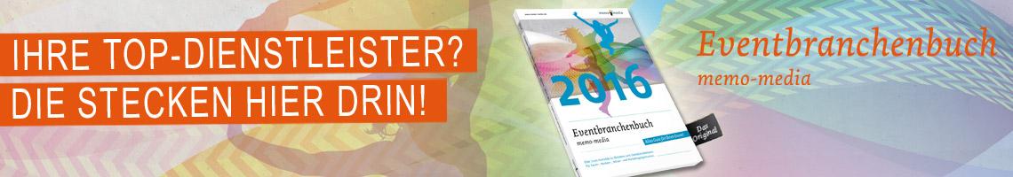 Die Eventbranche kompakt im Eventbranchenbuch memo-media 2015